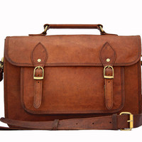Leather DSLR Camera Bag / Purse / Satchel Handbag / Messenger Bag - Two in One - Vintage Retro Look