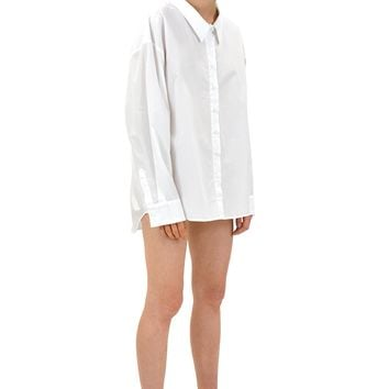 SOOP SOOP - SEEGO Low Collar Shirt, White