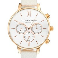 Olivia Burton Mink And Rose Chronograph Watch