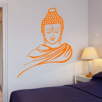 Free Shipping Home Decor Wall Sticker Religion Buddhism Buddha Meditation Wall Sticker 3d Decal Vinyl Art Home Decor vinilos 648
