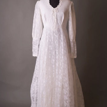 1930's Gone With The Wind Vintage Wedding Dress