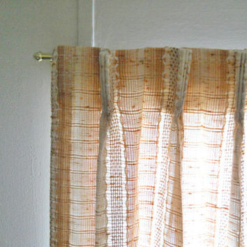 Mid Century Drapes Mid Century Curtains Tan Curtains Woven Curtains Lined Curtain Panel Lined Draperies Lined Drapes Neutral Curtains Short