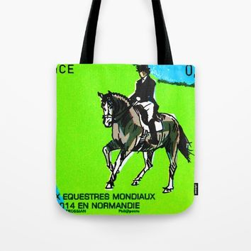 2014 FEI World Equestrian Games in Normandy DRESSAGE Tote Bag by lanjee