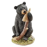 SheilaShrubs.com: Honey, The Curious Black Bear Cub Statue QL56987 by Design Toscano: Garden Sculptures & Statues