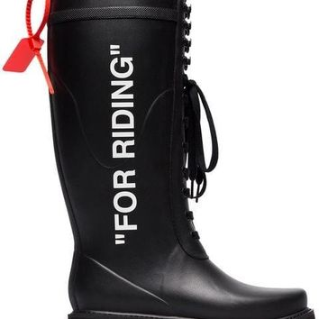 Riding Boots by OFF-WHITE