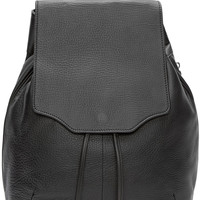 Black Leather Pilot Backpack