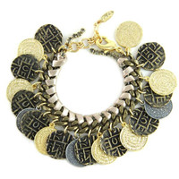 Pattern Change Mixed Metal Bracelet