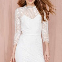 For Love and Lemons Rosette Lace Dress