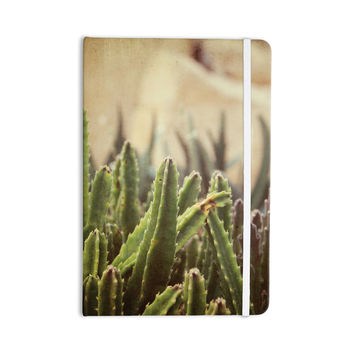 "Jillian Audrey ""Green Grass Cactus"" Green Brown Everything Notebook"