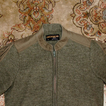 Geiger Green Boiled Wool Tyrol Jacket