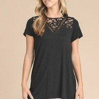 Charming Lace Top - Black