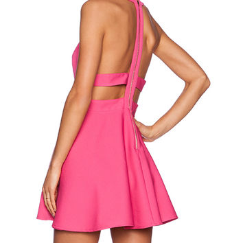 NBD x Naven Twins Te Amo Fit & Flare Dress in Pink