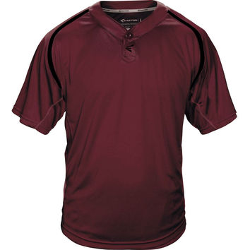 Easton M7 Homeplate Two-Button Baseball Jersey - Maroon Black