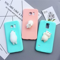 Candy Color Squishy Silicon Cartoon Soft Kneading Phone Case For Samsung S8plus S7edge S6edge plus S5 Note 3/4/5 Housing Coque