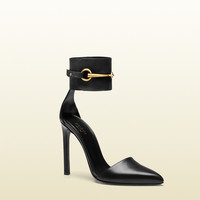 Gucci - leather ankle-strap pump 353798A3N001000