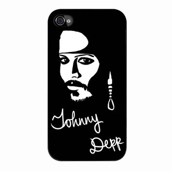 Johnny Depp iPhone 4/4s Case