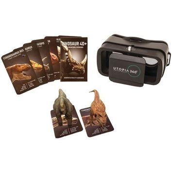 Retrak 4d+ Utopia 360? Vr Headset & Dinosaur Augmented Reality Cards (pack of 1 Ea)
