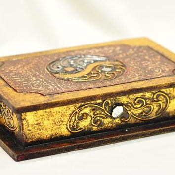 Handcrafted Wood Jewelry Box / Decorative Box / Treasure Chest