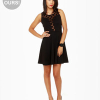 Sexy Black Dress - Polka Dot Dress - Tank Dress - $40.00