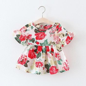 baby Girl Dress Summer infant Baby Girls Dress Kids Clothes Children floral Dresses for Girls vestido for 12 -24 months