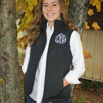Monogrammed Ladies Puffy Vest
