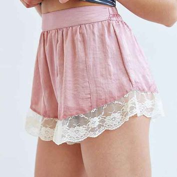 Band Of Gypsies Lace-Trim Slip Short-