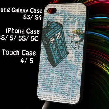 Alice In Wonderland, Tardis Doctor Who Samsung Galaxy S3/ S4 case, iPhone 4/4S / 5/ 5s/ 5c case, iPod Touch 4 / 5 case