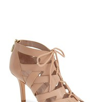 "Women's Pour la Victoire 'Camila' Caged Leather Sandal, 3 1/2"" heel"