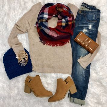 Chinadoll Sweater: Oatmeal