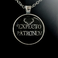 Expecto Patronum Necklace. Fandom Magic Necklace. 18 Inch Chain.