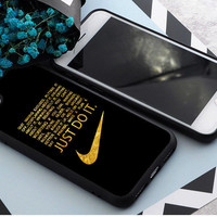 Just Do it Gold Quote Print on Hard Plastic Case For iPhone 8/8Plus