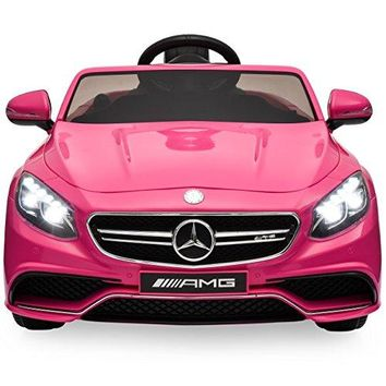Ride On Car Kids W/ MP3 Electric Battery Power Parent Remote Control RC Mercedes S63 (Pink)