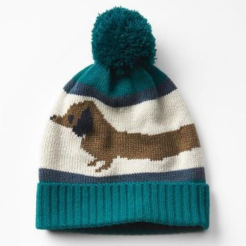 Gap Long Dog Pom Pom Beanie