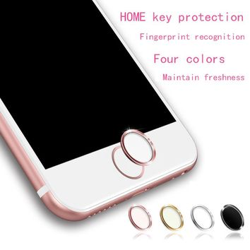 Home Button Stickers Metal Home Key Fingerprint Recognition On The For iPhone iPad 5 5S 5C SE 6 6S 7 plus