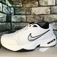 NIKE Air Monarch Fashion New Hook Running Women Men Sports Leisure Shoes White