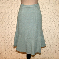 Mint Green & Gray Wool Tweed Skirt XL Flared Midi Plus Size 16 Skirt Womens Skirts Ann Taylor Plus Size Clothing Womens Clothing