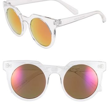 Women's Tildon 45mm Mirrored Cat Eye Sunglasses
