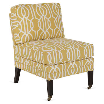 Milly Chair, Yellow/White, Accent & Occasional Chairs