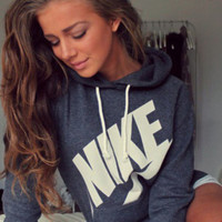 """NIKE"" Women Fashion Hooded Top Sweater Pullover Sweatshirt"