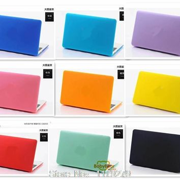 2015 Matte cover Case For Apple Macbook Pro Retina 12 13 15 Air 11 13 Protector case For Mac book 11.6 13.3 15.4