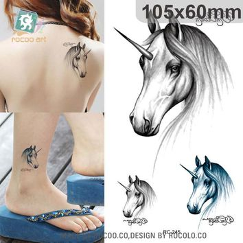 Tattoo Sticker Halloween waterproof temporary  3d  unicorn design