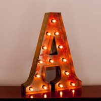 "24"" A Vintage Marquee Light Up Letter Screw-on Sockets"