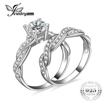 JewelryPalace Infinity Love Forver Wedding Engagement Ring Simulated Diamond Cubic Zirconia 925 Sterling Silver Fine Jewelry