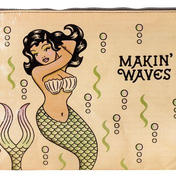 Makin' Waves Mermaid Jumbo Zipper Pouch