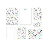 Printable Stationery Set - 90s Doodles - Notes / Card / Gift Tag / Envelope