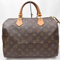 Tagre™ Louis Vuitton Hand Bag Speedy 30 Brown Monogram