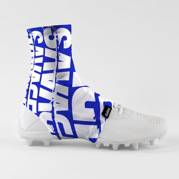 Savage Chroma Blue White Spats / Cleat Covers