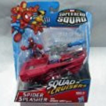 Marvel Super Hero Squad Spider Splasher Squad Cruisers with Spider-Man Figure