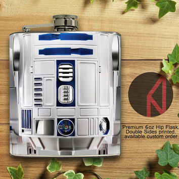 R2D2 Starwars 6oz and 8oz Hip Flask