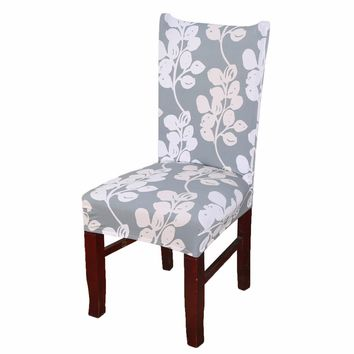 Home Kitchen Dining Elastic Chair Cover Fashion Flowers Printing Removable Spandex Slipcover Seat Protector Stretch Chair Covers